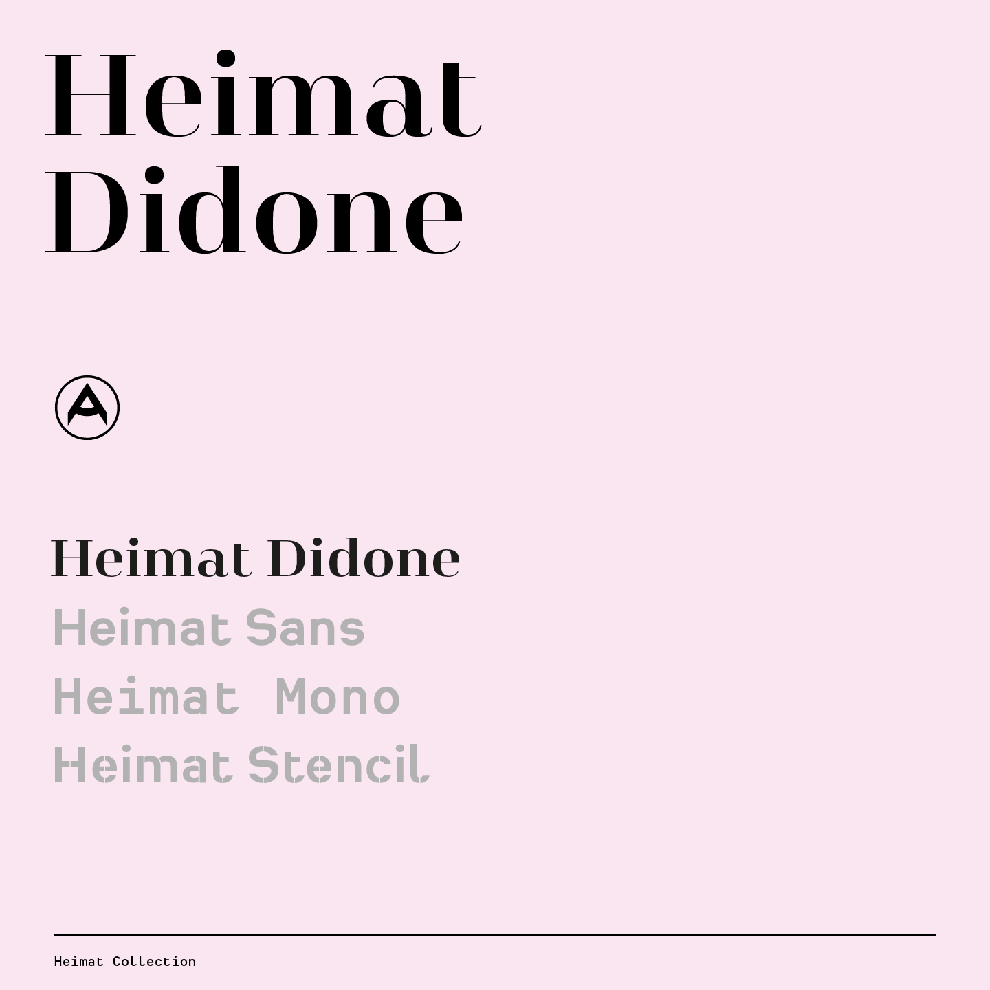 Heimat Didone, a high contrast serif font family by Christoph Dunst of Atlas Font Foundry.