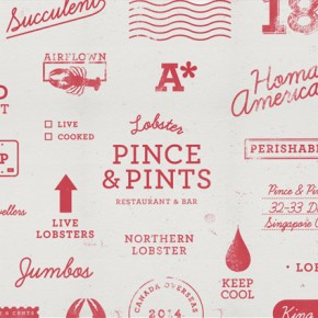 Pince & Pints - Restaurant Identity by Studio Bravo