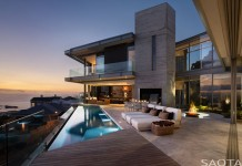 Pool and terrace of the dream house located in Clifton, Cape Town, South Africa.