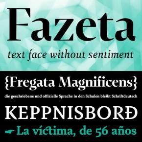 Fazeta Font Family from Adtypo