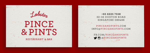 20 beautiful business card design singapore pics business cards ideas pince pints restaurant identity by studio