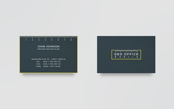Geo office berlin branding by pixelinme business cards reheart Choice Image