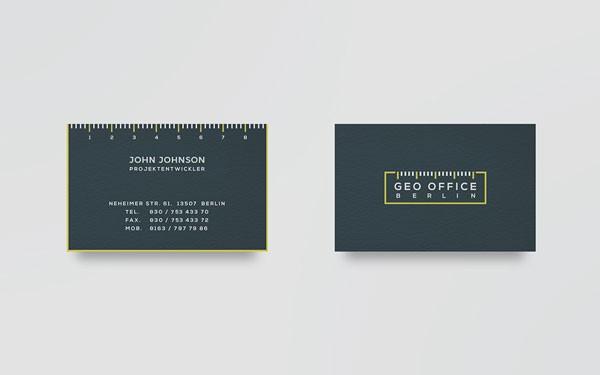 Geo office berlin branding by pixelinme business cards reheart Gallery