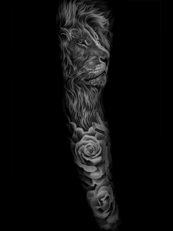 Tattoo artwork by Jun Cha.