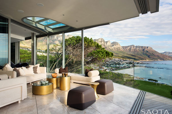 Modern design for both interior and exterior space.