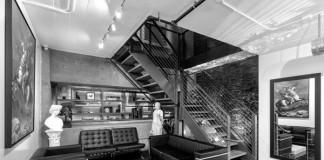 Modern interior design of the studio.