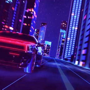 Retrowave - Short 80s Style Animation by Florian Renner