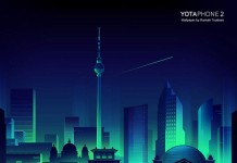 Berlin at night wallpaper by Romain Trystram for mobile Yota devices.