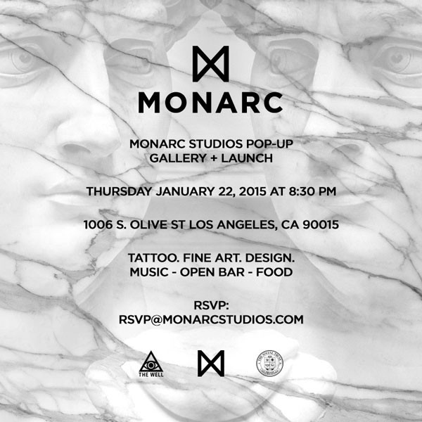 MONARC Studios Pop Up Gallery and Launch in Los Angeles, California.