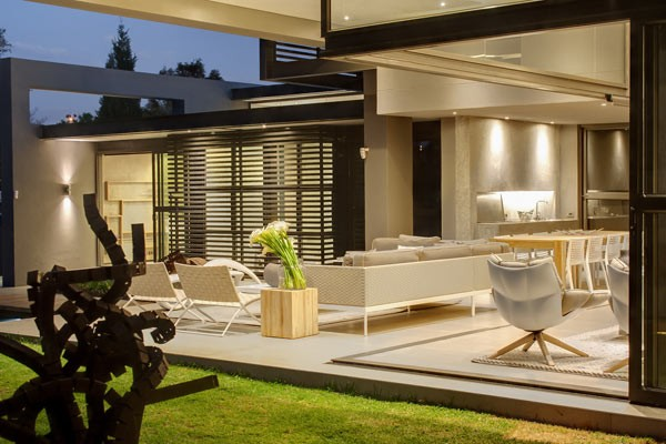 A seamless transition between indoor and outdoor space.