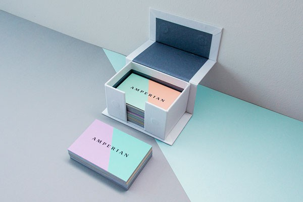 A box with business cards.