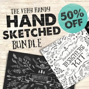 Hand Sketched Vector Elements and Logos