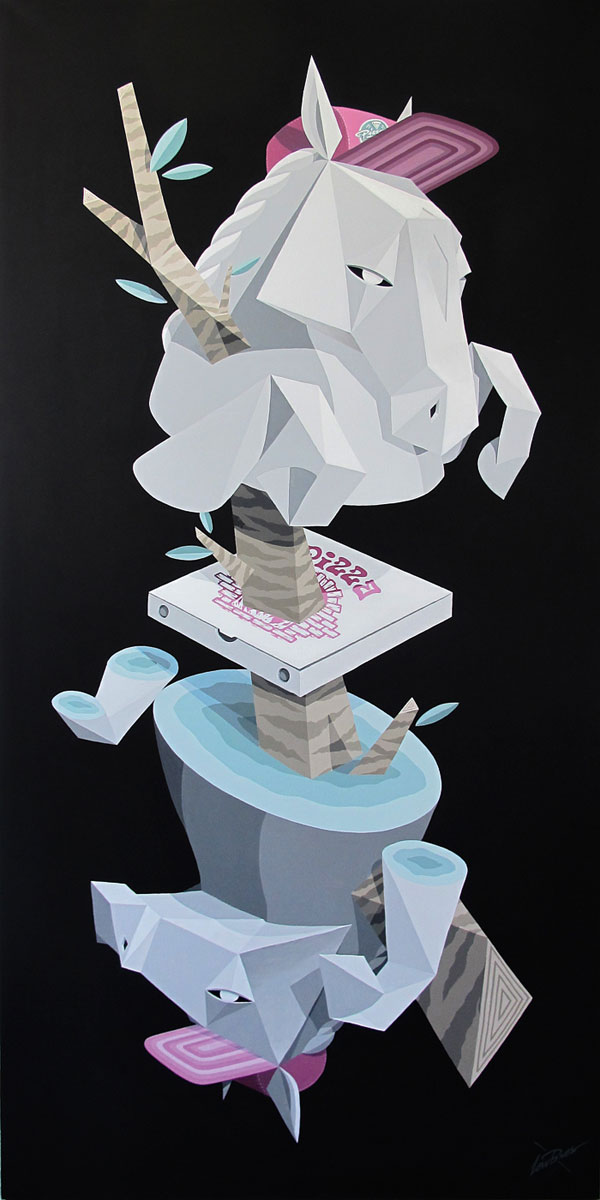 Call a Culture - Acrylics and spraypaint on canvas.