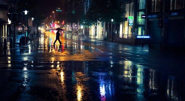 Colors of the Night - Photo from the series Under My Umbrella.