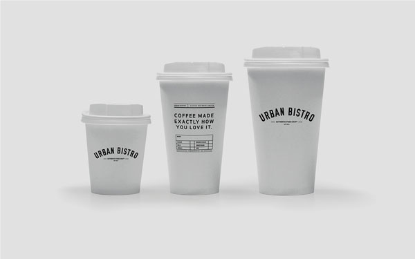 Cups package design.