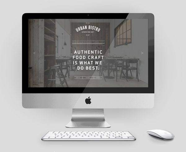 Homepage of the new website.