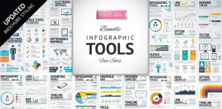 Infographic template bundle with brochure styling update.