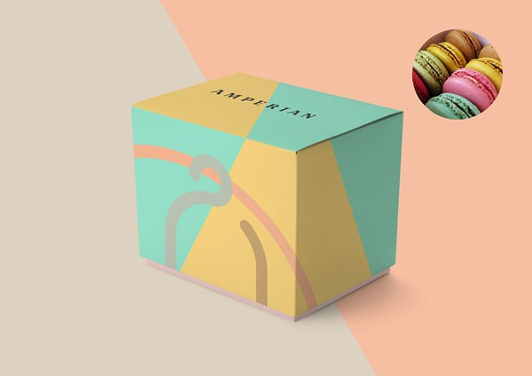 Macarons packaging.