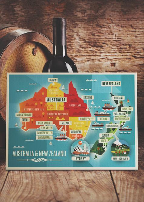 Majestic Wine Maps – Illustrations by Neil Stevens