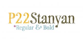 P22 Stanyan, a scribbled typeface designed by Richard Kegler.