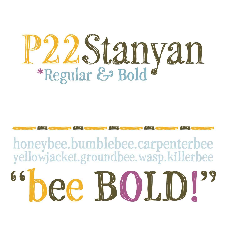 p22 stanyan font