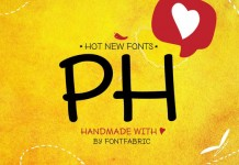 PH fonts, a multifaceted type system from Fontfabric.