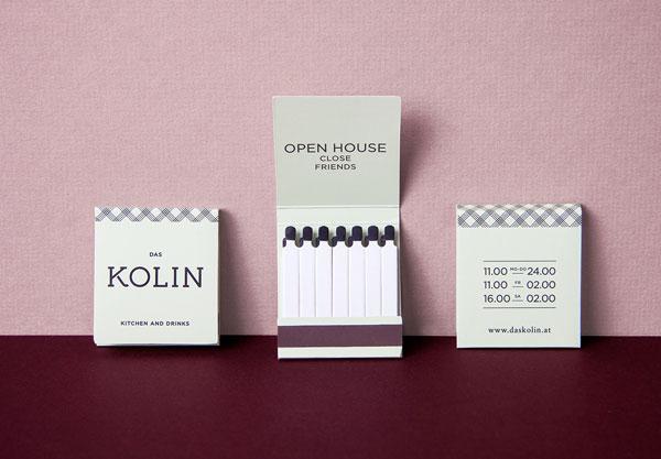 Restaurant branding by VON K Design.