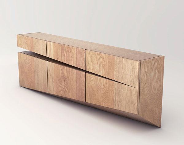 Sideboard concept by Natalia Wieteska, an interior and furniture designer by Poznań, Poland.