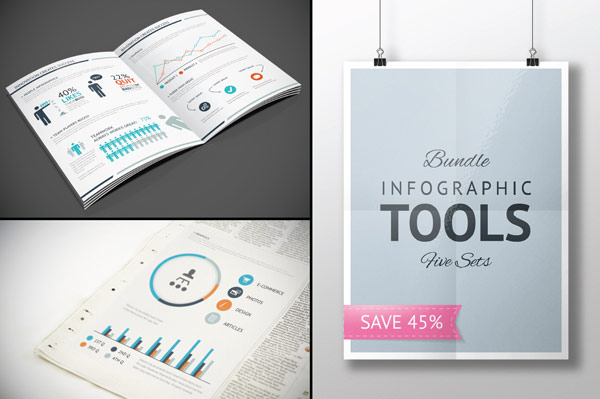 Infographic Elements Bundle - some examples of use.