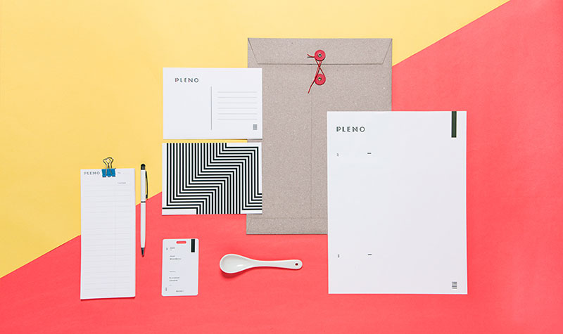Stationary set of Pleno, a restaurant located in the heart of Colonia Condesa, in Mexico City.