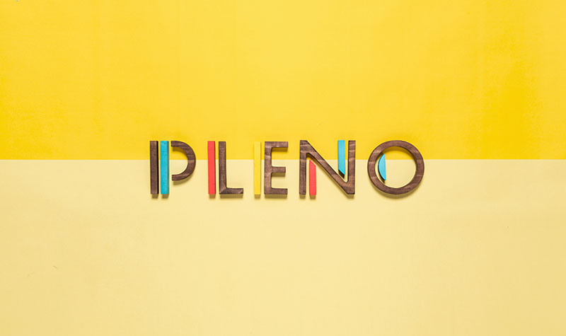 The Pleno logotype.