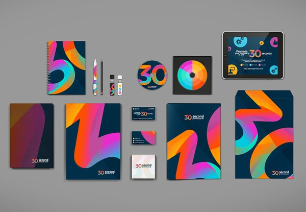 30SP brand identity - complete stationery set created by STUDIOJQ.