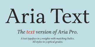 Aria Text, a sober and rational text font by Rui Abreu.