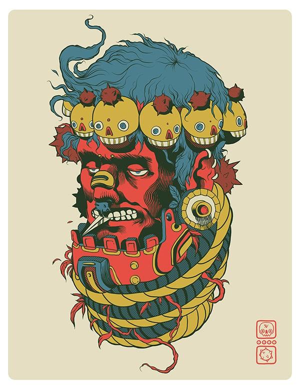 Creative illustrative artwork for a print.