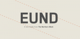 The Eund font family from The Northern Block is a geometric sans serif typeface with minimal contrast.