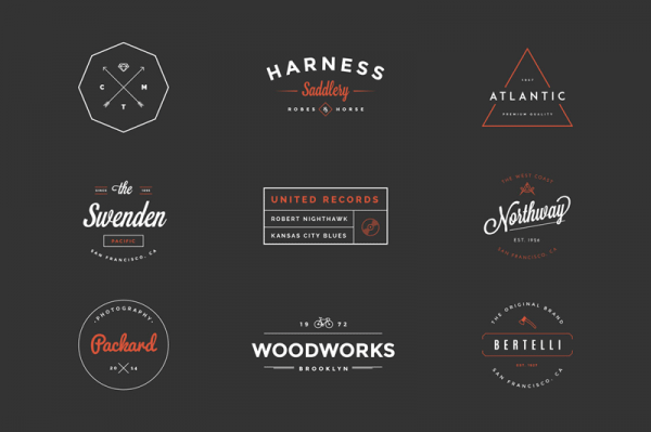 The Hipster Vintage Logo Pack from Victor Barac.