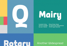 The Mairy font family is a modern and friendly sans serif typeface by designer Chatnarong Jingsuphatada of foundry Typesketchbook.