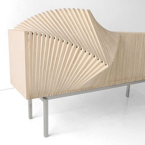 Wave Cabinet - Deformable Furniture by Sebastian Errazuriz