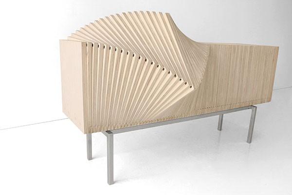 Wave Cabinet – Deformable Furniture by Sebastian Errazuriz