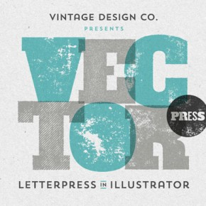 VectorPress - Illustrator Letterpress Textures