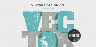 VectorPress - Illustrator letterpress textures from Vintage Design Co.