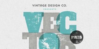 VectorPress - Illustrator letterpress textures from Vintage Design Co.
