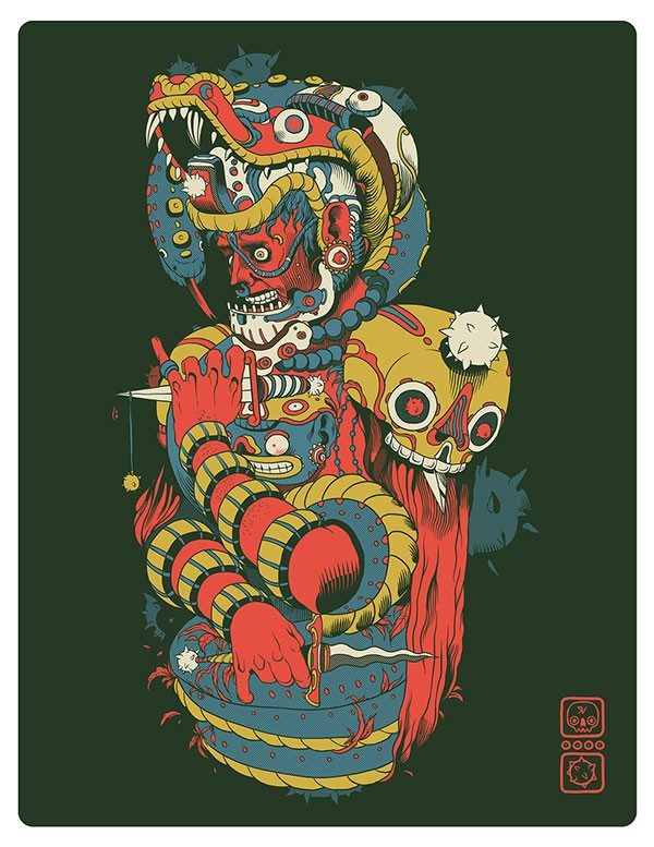 A poster illustration by Raul Urias from Mexico.