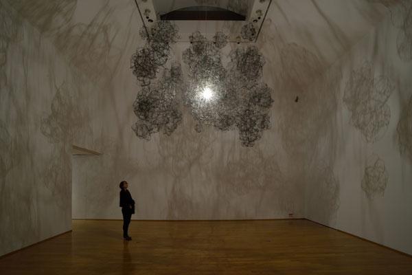 Empty sculpture, an installation work by Japanese artist Onishi Yasuaki.