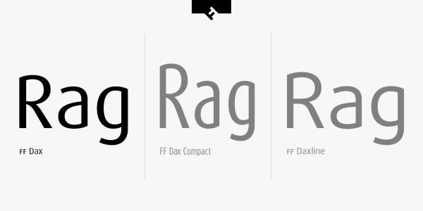 FF Dax, FF Dax Compact, and FF Daxline.