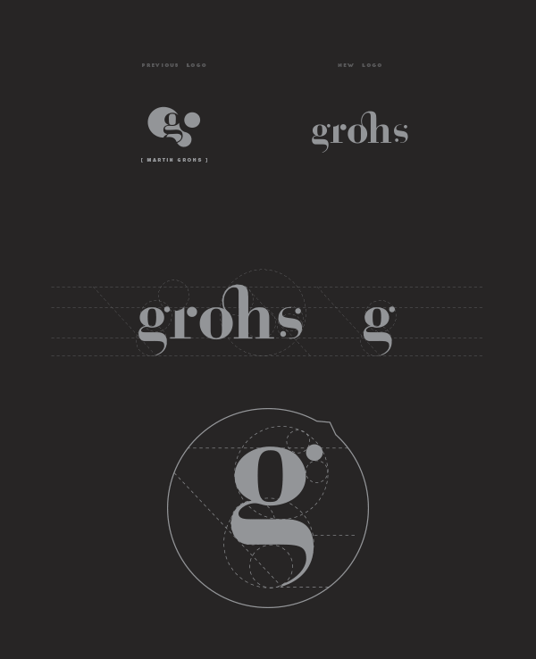 Old and new logo design.