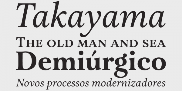 Some text samples of this beautiful serif font family.