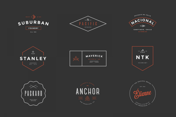 You can download these stylish vintage logos for low budget.