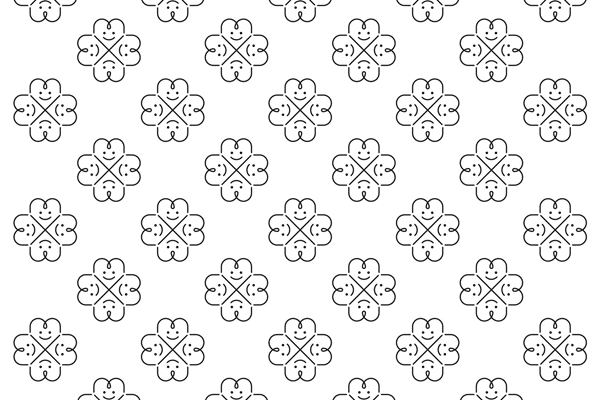Pattern created from the logo.