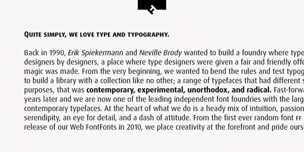 A text sample of this beautiful typeface.